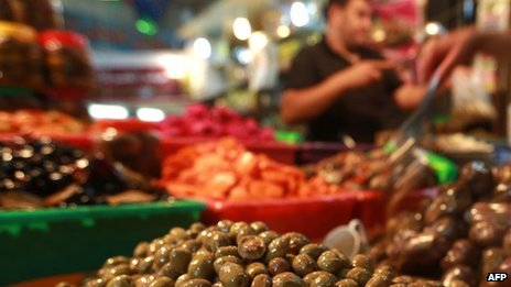 Market in Gaza city