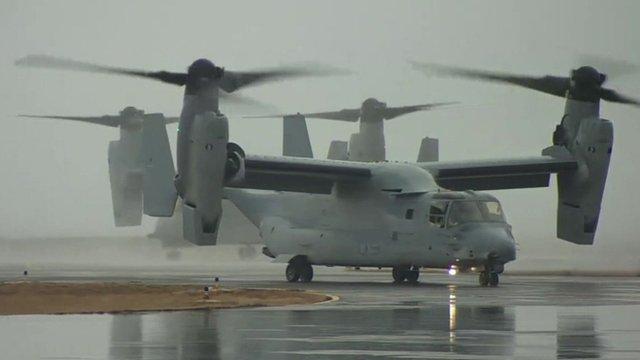 The Osprey aircraft