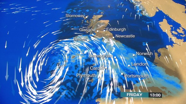Weather graphic for Friday