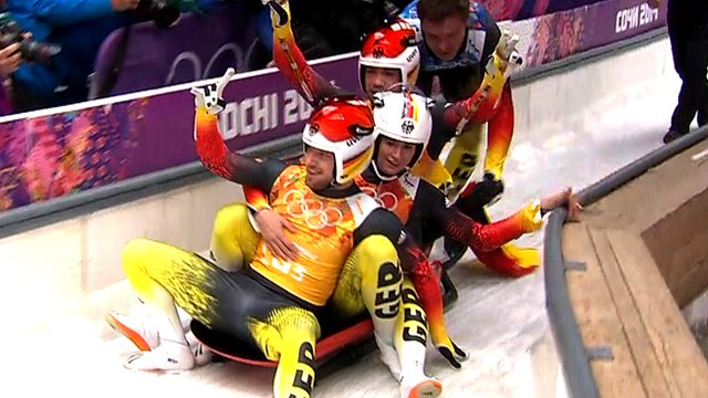 Germany win historic first luge team relay gold