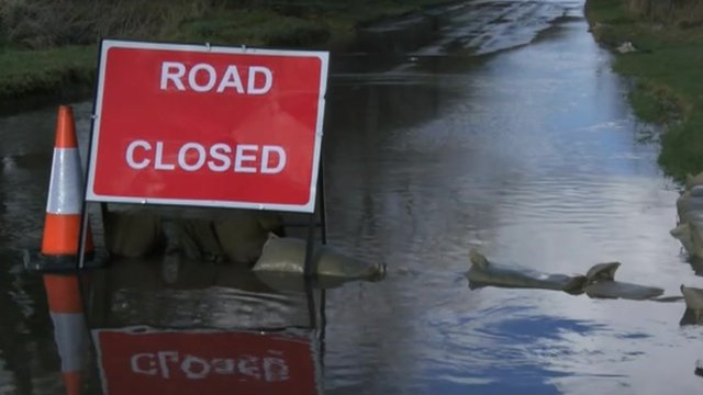 Lambourn in west Berkshire has been severely affected by flooding