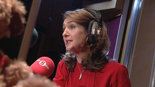 Victoria Derbyshire in radio studio
