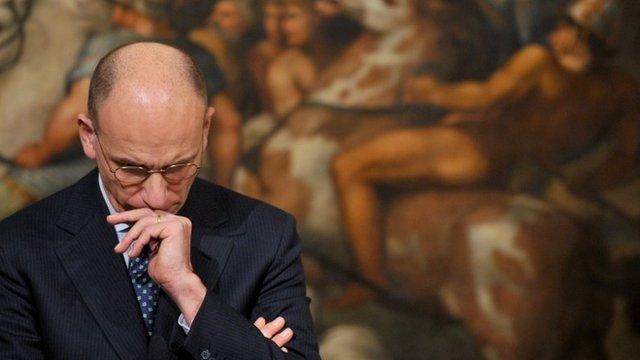 File photograph of Enrico Letta