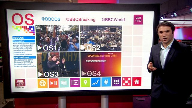 Ros Atkins and the new OS touch screen