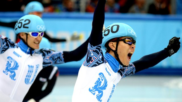 Victor An seals Russia's first ever short track speed skating gold medal.