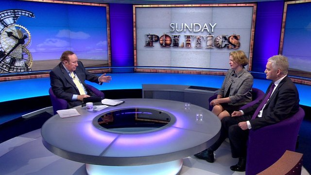 Andrew Neil with Vicky Ford and Patrick O'Flynn