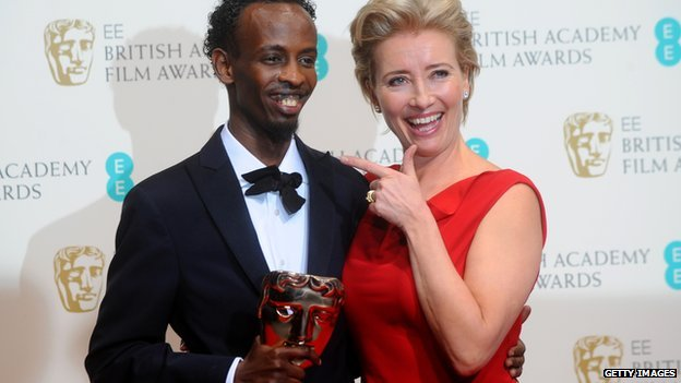 Barkhad Abdi with Emma Thompson