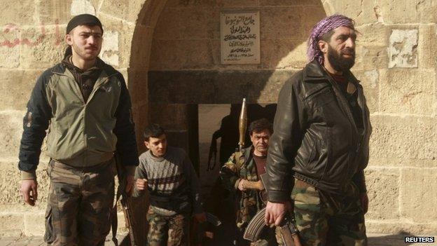 FSA-aligned rebel fighters in Aleppo (4 February 2014)