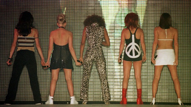 Spice Girls at the Brits in 1997