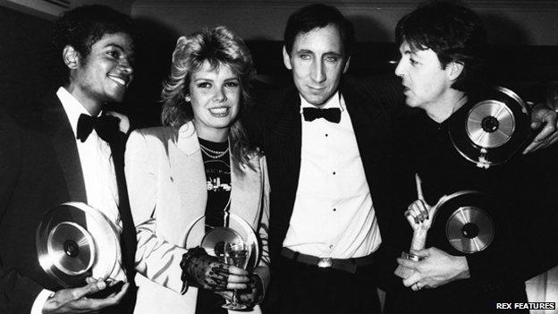 Michael Jackson, Kim Wilde, Pete Townshend, Paul McCartney