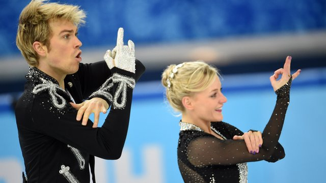 British skaters Penny Coomes and Nick Buckland