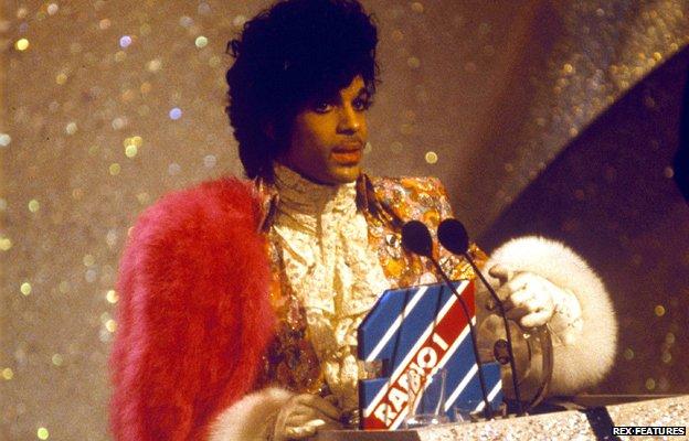 Prince at the 1985 Brit Awards
