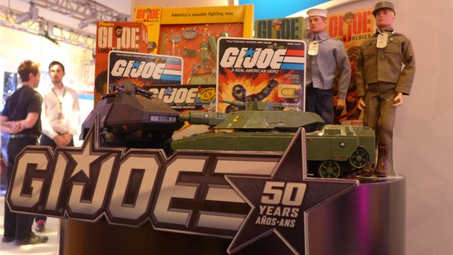 The current crop of GI Joes is on display at the New York Toy Fair