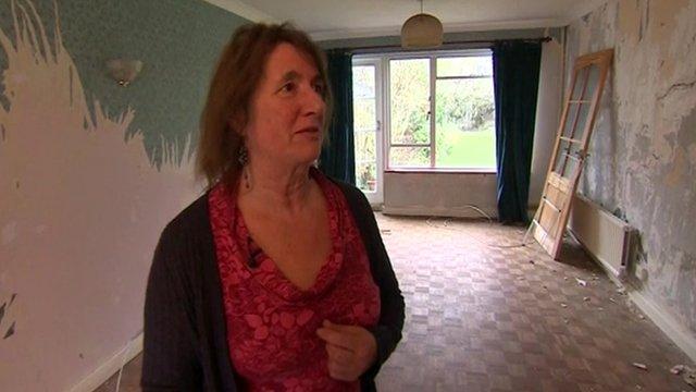 Jeanette Shipp in her living room