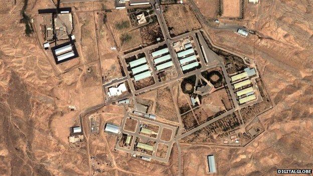 Satellite photo of Parchin military complex in Iran (2004)
