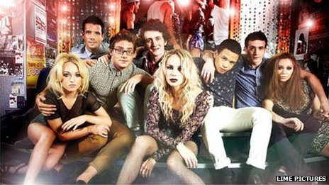 Some of the cast of Channel 4's Hollyoaks