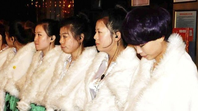 Women being questioned in Dongguan over potential prostitution, gambling and drugs.