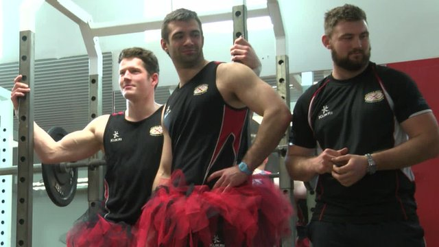 Jersey Rugby Club players