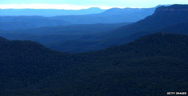 The Blue Mountains in Australia