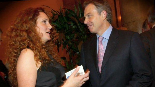 Rebekah Brooks and Tony Blair