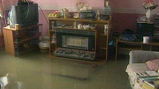 Flooding in a Banbury home in the 1990s