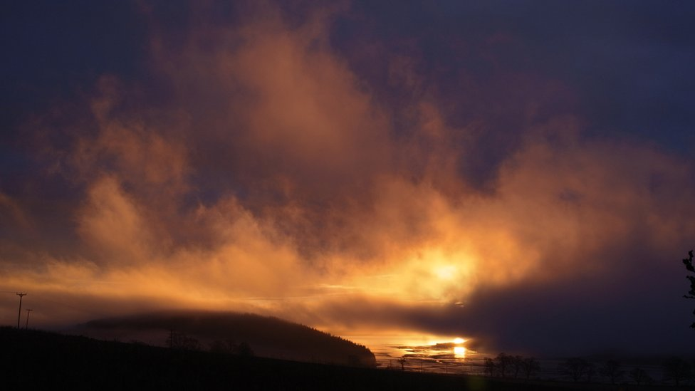 Sunrise over the Black Isle