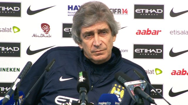 Man City boss Manuel Pellegrini