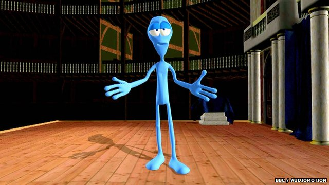 Bepe the blue alien