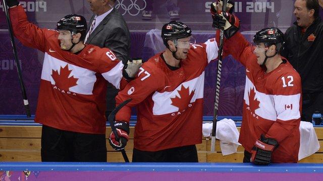 Canada's victorious hockey team