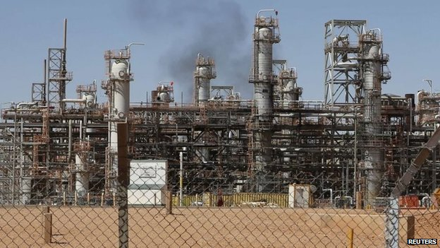 The Tiguentourine Gas Plant in In Amenas, 1600 km (994 miles) southeast of Algiers, taken in October 2013