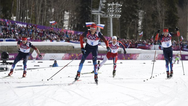 Russia's Alexander Legkov wins gold in men's 50km mass start