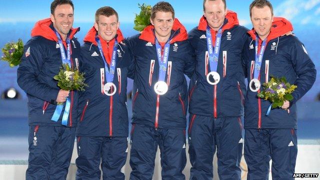 The British men's curling team