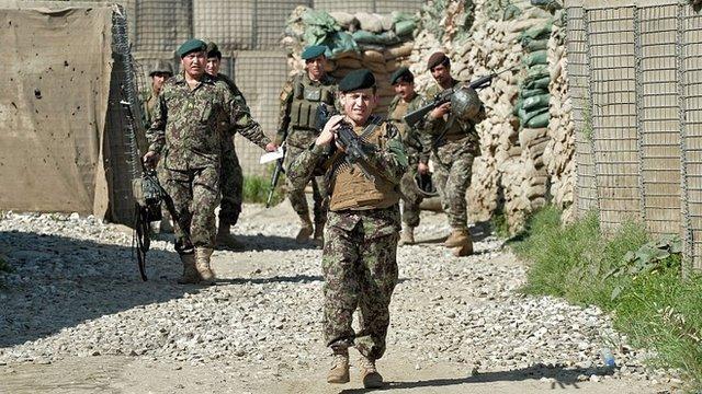 Afghan troops in Kunar province (file image)