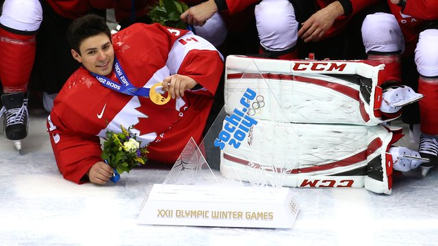 Canada beat Sweden 3-0 to win gold in the men's ice hockey on the final day of the the 2014 Winter Olympics.