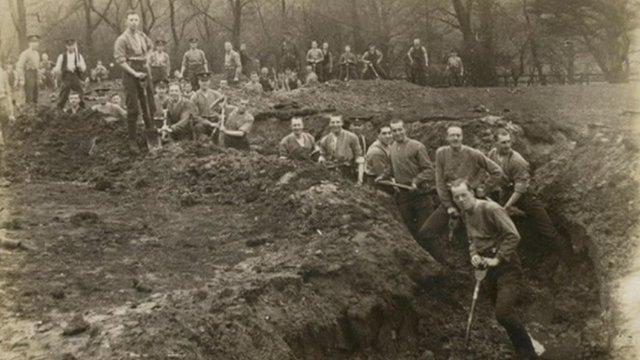 Soldiers at Otterburn