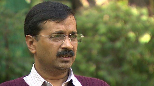 Leader of the Aam Aadmi Party (AAP) Arvind Kejriwal
