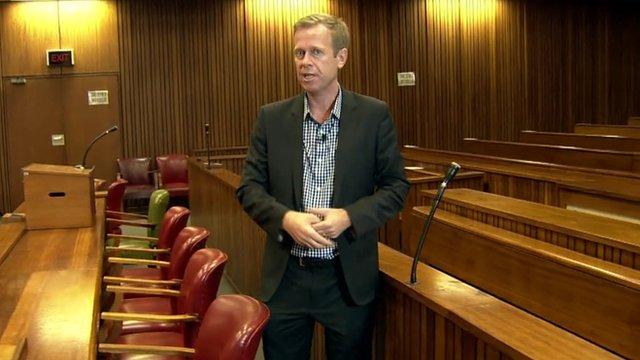 The BBC's Andrew Harding in Pretoria court room