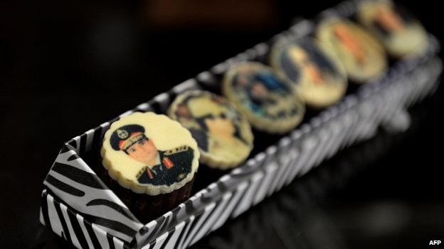 Chocolates decorated with portraits of Egypt's army chief General Abdel Fattah al-Sisi are displayed at a shop in Cairo on August 27, 2013