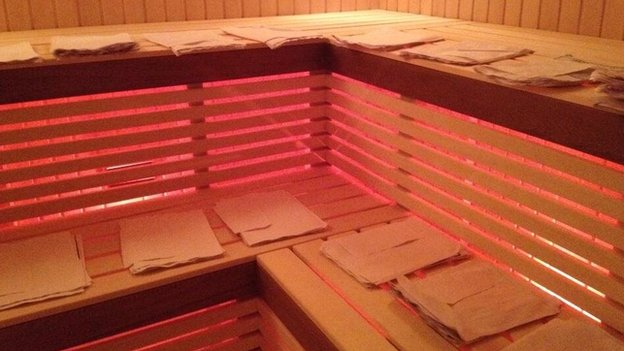 Documents drying in a sauna in Yanukovych's residence