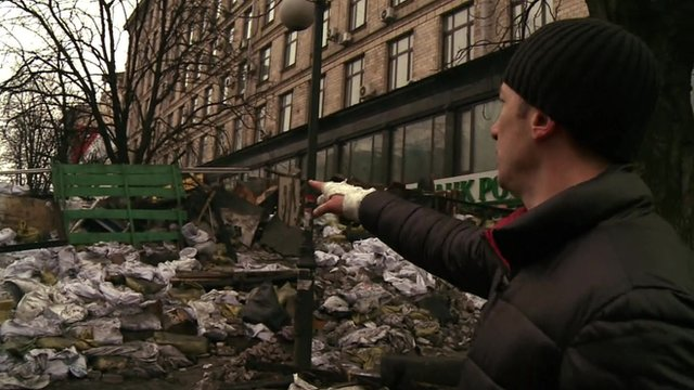 Sergey Prohor at barricade