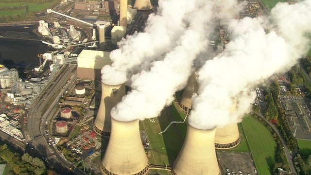 Power station - aerial view