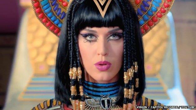 Still from Katy Perry's Dark Horse video