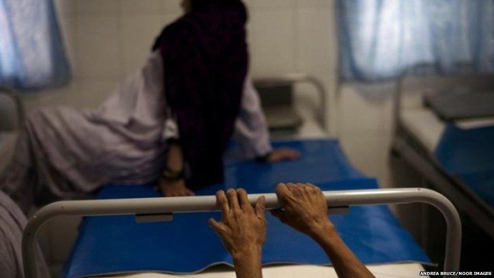 Women in a labour ward
