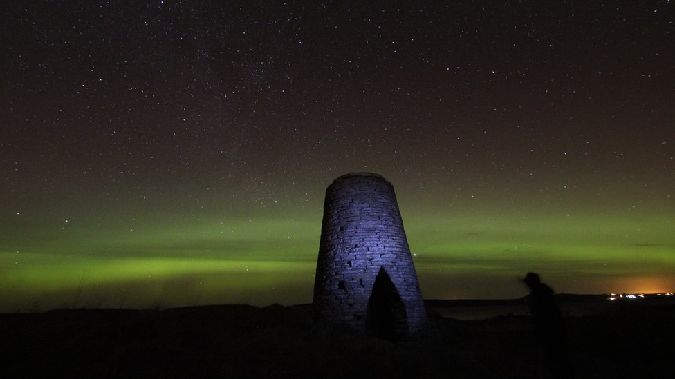 Aurora borealis over Castletown