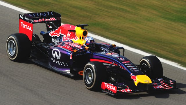 Daniel Ricciardo drives for Red Bull