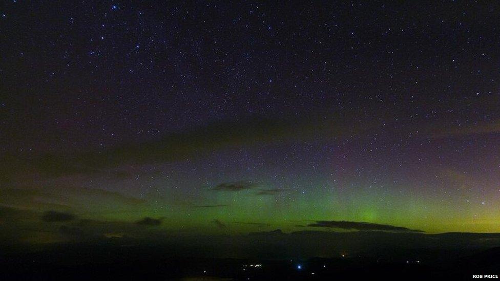 Goleuni'r Gogledd ger Machynlleth, Powys