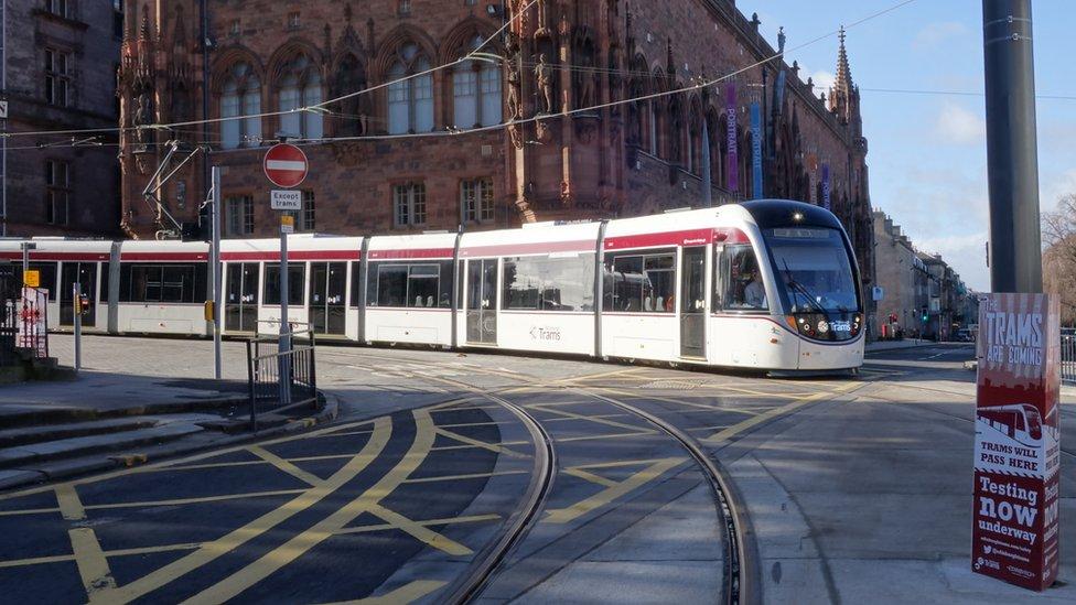 Tram in Edinburgh