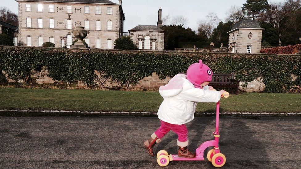 Martha on a scooter