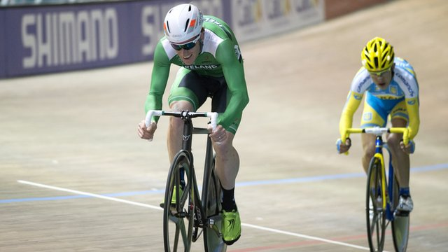 Martyn Irvine finished second in the scratch race