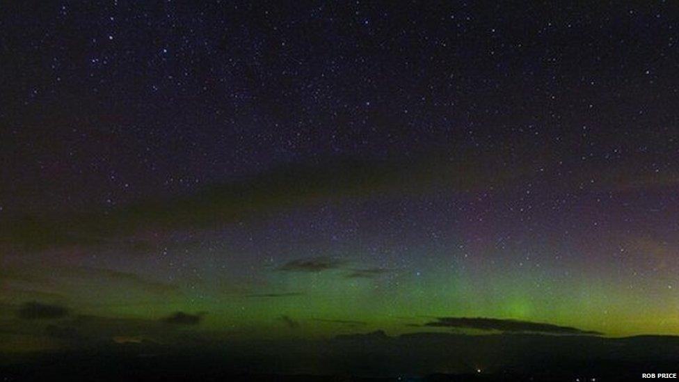 Northern Lights near Machynlleth, Powys